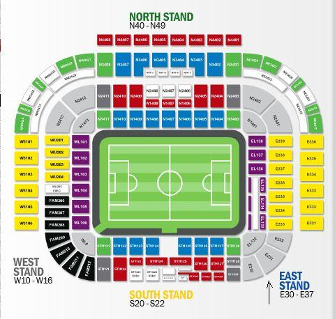 Old Trafford seating plan