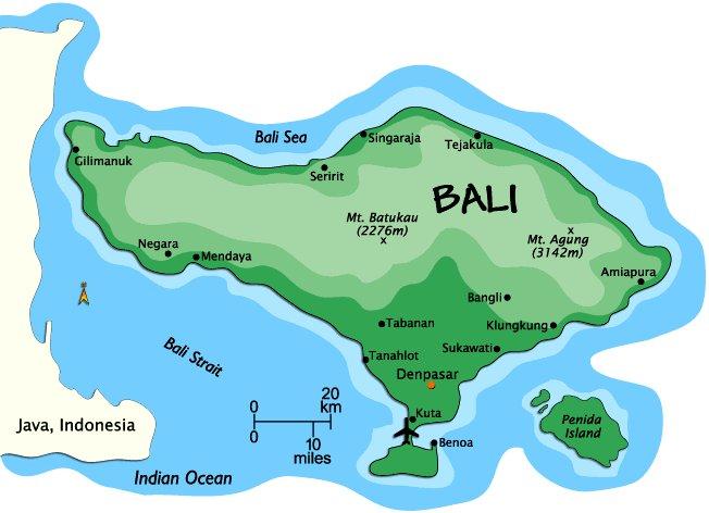 BALI - přehled pobytových míst