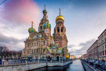 Petrohrad - město Petra Velikého - Petrohrad, chrám Vzkříšení Krista