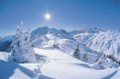 Rakouské Alpy - rakousko zima