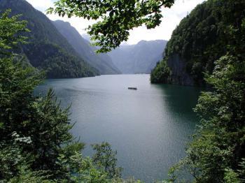 Königsee - nejčistší jezero - jezero Königsee