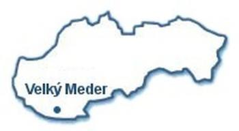 Velký Meder - mapka